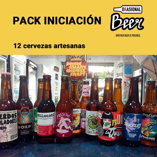 Pack iniciación cerveza artesanal (12 ud)
